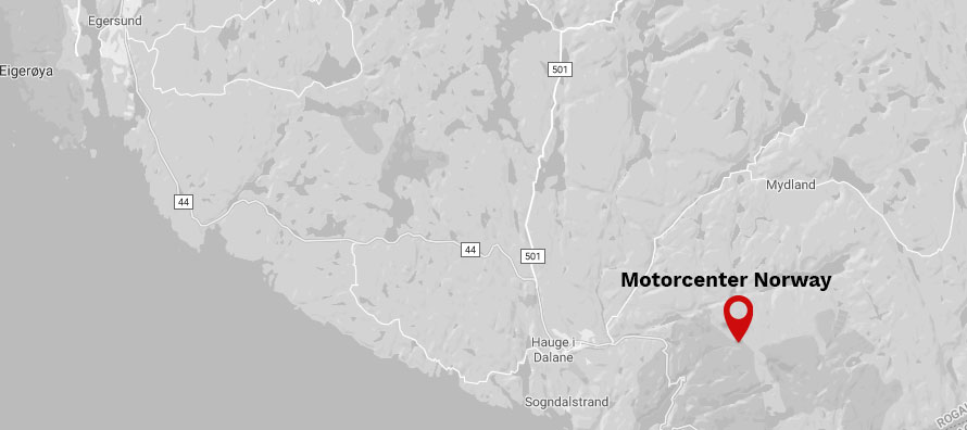 Se kart til Motorcenter Norway i Sokndal
